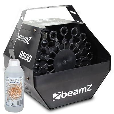 Beamz B500 Party Bubble Machine + 1L Bubble Fluid 500W