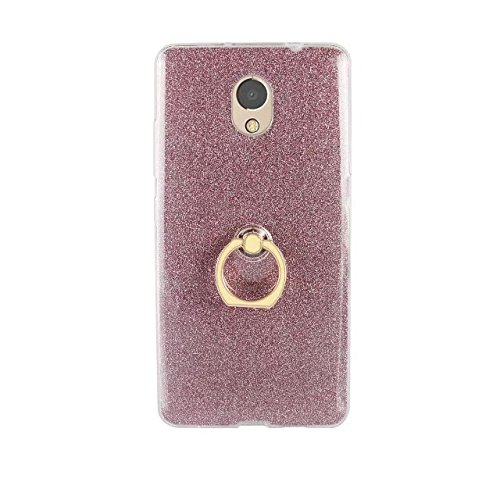 EKINHUI Case Cover Soft Flexible TPU Back Cover Case Shockproof Schutzhülle mit Bling Glitter Sparkles und Kickstand für Lenovo Vibe P2 ( Color : Gold ) Pink