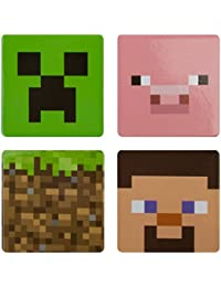 Minecraft Childrens/Kids Official Character Pin Badge Set