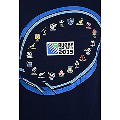RWC 2015 20 Nations Ball Graphic Rugby T-Shirt Black from Brandco