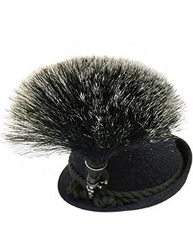 Gamsbart groß mit Hülse echt versilbert ohne Trachten-Hut Gemse Jagd Gams Gämse Hutschmuck prächtige Trophäe für...