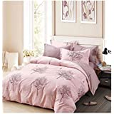 MSE Super Poly Cotton Soft Touch Bedsheets Florida Wave King Double Bedsheets 275 * 275cms King Size With 2 Pillow Covers Trend : All Season