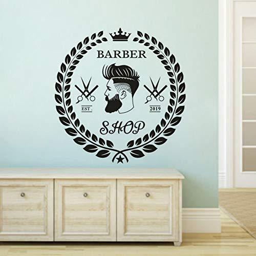 Haarschnitt Stil Wandaufkleber Barber Bart Gesicht Vinyl Wandtattoo Haarschneidewerkzeuge Fenster Aufkleber Friseursalon Barbershop Dekoration 42x43c