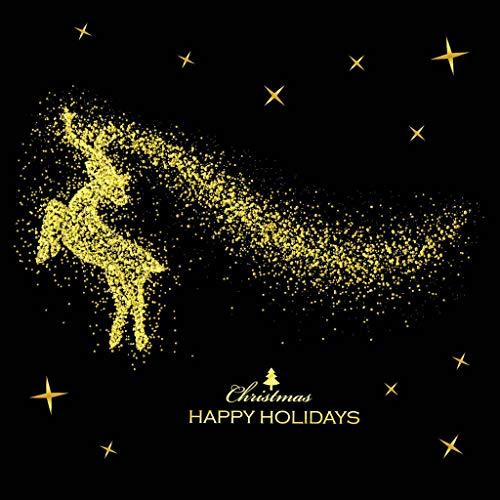 Coupons Kostüm - DQANIU Wandaufkleber, Festival Decor Frohe Weihnachten Gold Haushalt Wandaufkleber Wanddekor Aufkleber Removable Home Decor