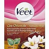 Veet - Pot De Cire Orientale Chaude, Formule Douce Aux Huiles Essentielles - La Boite De 250Ml - Vendu par pièce - Livraison Gratuit en France