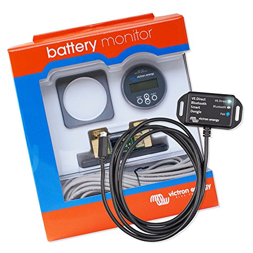 Batterie Monitor | Batteriecomputer | Batteriewächter | Spannungswächter | Victron Energy Set BMV 700 mit VE.Direct Bluetooth Smart dongle -
