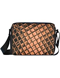 Custom Messenger Bag NB Metallic By Nico Bielow Classic Cross-Body Nylon Bag(Model 1632)