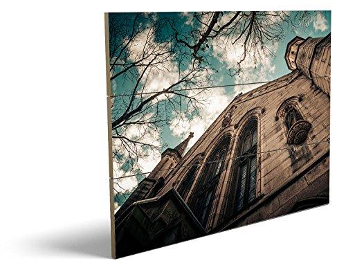 Männliche Kostüm Bilder Teufel (Kirche, qualitatives MDF-Holzbild im Drei-Brett-Design mit hochwertigem und ökologischem UV-Druck Format: 80x60cm, hervorragend als Wanddekoration für Ihr Büro oder Zimmer, ein Hingucker, kein Leinwand-Bild oder)