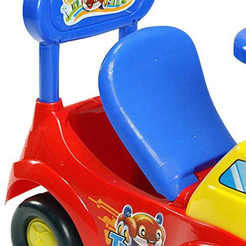 Image of Bopster Baby Toddlers Ride On Push Along Yellow, Red and Blue Car