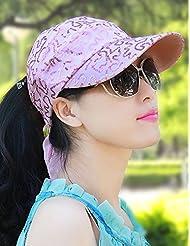 Randonnée à vélo mince Section respirante été Baseball Cap Sun Hat Girls (4 couleurs sont disponibles)
