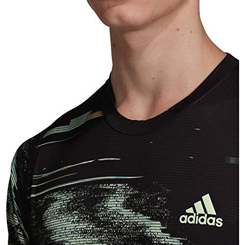 adidas Herren NY PRINTED Zverev Funktionsshirt schwarz - Tennis Shirt Adidas