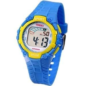 Time100 Kids' Fancy LCD Multifunction Light Blue Strap Digital Watches #W40010L.03A