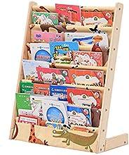 Children's Cartoon Solid Wood Floor Simple Bookshelf, Space Saving, Primary School Kindergarten Baby Bookshelf, Used to Stor