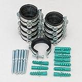 Sparset ---- 10 Stück Schraubrohrschelle 50-55 mm 1 1/2