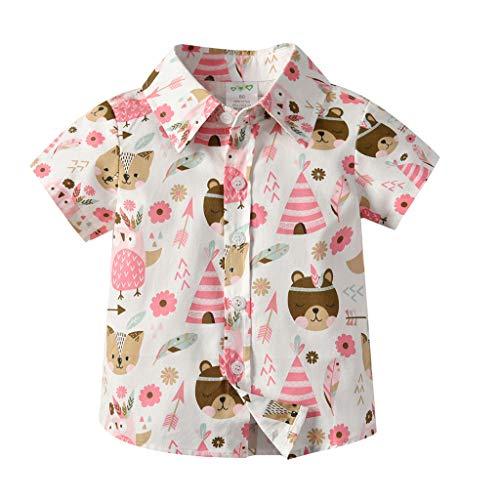 Pageantry Baby Jungen T-Shirt Kurzarm Cartoon Drucken Shirt Uv-Schutz Bade-Set Farbe Polo T-Shirt Mit Kragen Baumwolle Herr Freizeit Kindergeburtstag Geschenk - Drucken Polo