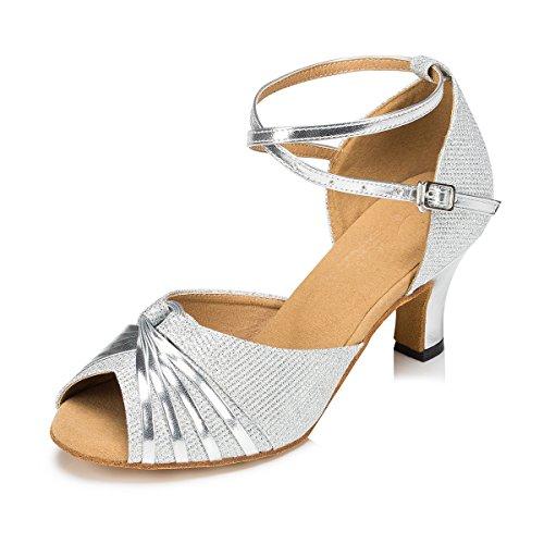De Pwacqg Silver Miyoopark Femme Bal Heel 6cm Salle BZZn0