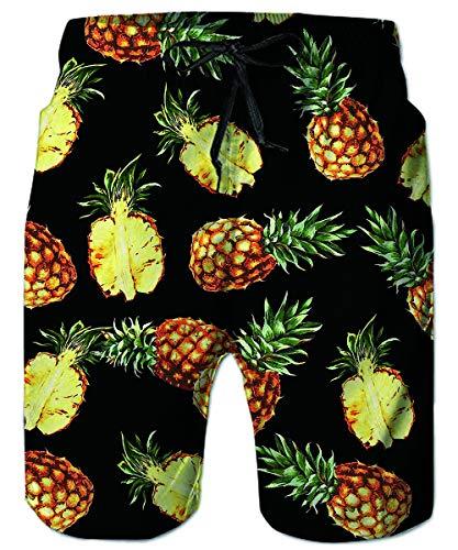 RAISEVERN Männer Jogginghose, Sommer - Jungen - elastische Taillen - Badehose Quick Dry Strand Shorts Laufen Schwimmen Kurze Hosen