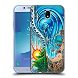 Head Case Designs Ufficiale Drew Brophy Muro di Teschi Arte Surf 2 Cover Morbida In Gel Per Samsung Galaxy J7 2017/Pro
