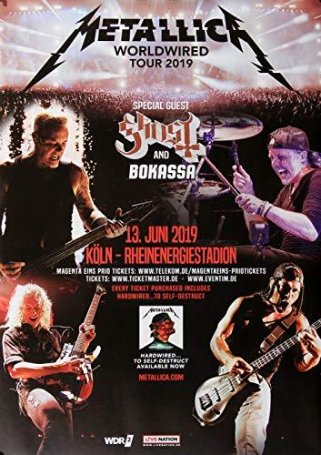 Premium Poster/Plakat   DIN A1   Live Konzert Veranstaltung » Metallica - Worldwired, Köln 2019 « (Soul Köln)