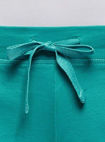 oodji Ultra Damen Basic Jersey-Shorts Türkis (7300N)
