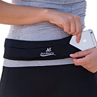 New! The Most Elastic Running Belt Pouch for Men and Women, Expandable to Hold Cell Phones, Keys and more. Ideal Waist Pack Fanny Pack for Hands-Free Travel, Outdoor Sports, Gym Workouts and Yoga