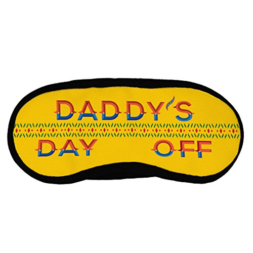 Indigifts Father Birthday Gifts Daddys Day Off Quote Truck Art Border Yellow Sleep Mask For Eye