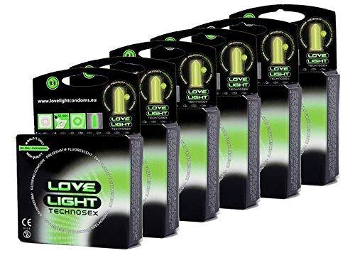 Love Light Leucht-Kondome - (3sx6) 18 Stk