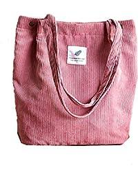 deb3d4c7f1281 KIWITECH Umhängetasche Damen Groß Cord Tasche Damen Handtasche  Schultertasche für Schule…