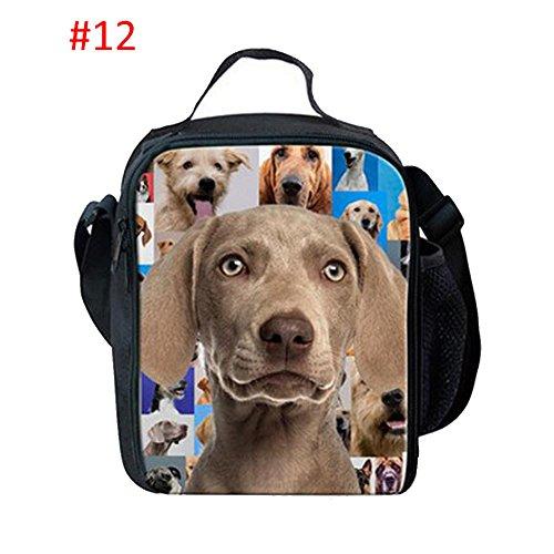 Meijunter Cute Dogs Pattern All'aperto Refrigeratore Termico Insulated Travel Scuola Picnic Borsa per il pranzo Per All'aperto Casual Life And Scuola Bambini #12