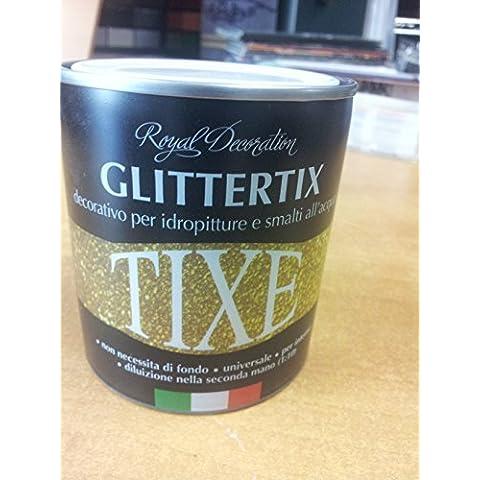 Glitter argento in emulsione 250 ml. Puo' essere aggiunto alle comuni idropitture , a vernici (Emulsione Di Vernice)