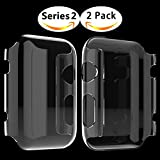 Apple Watch Series 2 Hülle, Misxi Apple Watch Case Hard PC iwatch Schutzfolie All-around Schutzhülle 0.3mm Ultra-Slim Schutz für i Watch 2 (38mm-2Packung)