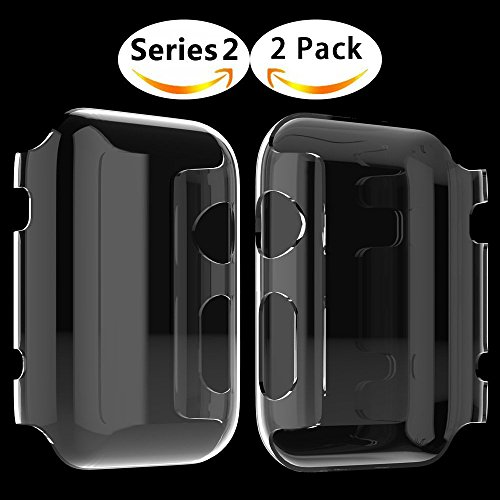 Apple Watch Series 2 Hülle, Misxi Apple Watch Case Hard PC iwatch Schutzfolie All-around Schutzhülle 0.3mm Ultra-Slim Schutz für i Watch 2 (42mm-2Packung)