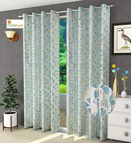 check MRP of door curtains blue Purav Light