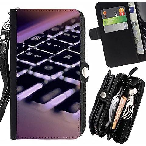 Peach Tech Portafoglio in pelle della Carta di Credito fessure PU Holster Cover in pelle case LG X Cam / K580 / Keyboard Hi Tech