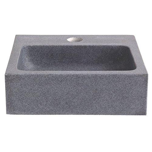 Lave main en pierre de très grande qualité gris ardoisé