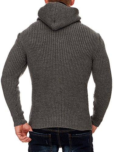 TAZZIO Herren Styler Pullover mit Kapuze 16492 Anthrazit