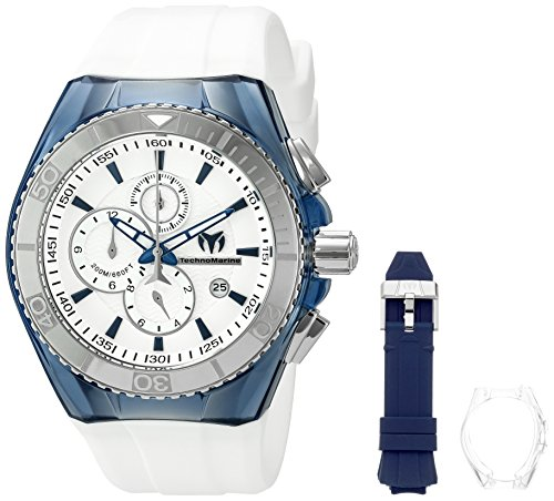 technomarine-mens-quartz-watch-with-silver-dial-analogue-display-and-blue-silicone-strap-tm-115052
