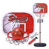 XISHU Kind Basketballkorb Die Höhe kann angehoben und abgesenkt Werden Indoor Basketball Brett einschließlich Basketball + Pumpe Geeignet für unter 10 Jahre,B