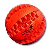 WEPO - Palla da masticare per cani con superficie puntinata per la cura dei denti, robusta, ideale anche per cuccioli, in caucciù naturale
