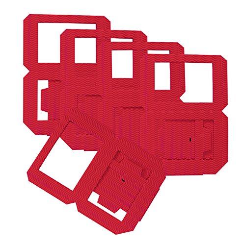 nen Rohlinge, Laternenzuschnitte aus Wellpappe, 5 Stück, rot, zum Zusammenstecken ohne Kleber, ideal zum Gestalten individueller Laternen oder Tischlichter ()