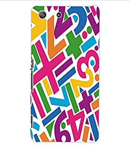 ColourCraft Typography Design Back Case Cover for SONY XPERIA M5 E5603 / E5606 / E5653