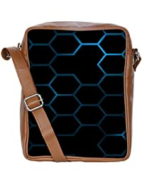 Snoogg Honeycomb Systemology Sling Bags Crossbody Backpack Chest Daypack Travel Bag Book Bag For Men&Women