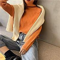 IJL El otoño y el Invierno Usan Jerseys Anchos y Salvajes, con un Jersey de Cuello Alto en el Exterior.Las Camisas de Las Mujeres Son Todas Naranjas.
