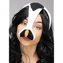 Máscara de pájaro del pingüino en la venda con el pico