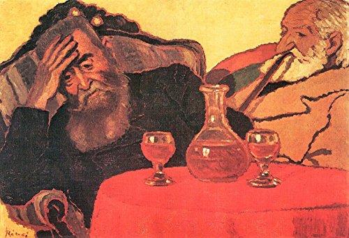 Das Museum Outlet–Vater und Onkel mit der rot Wein von Joseph rippl-ronai, gespannte Leinwand Galerie verpackt. 29,7x 41,9cm