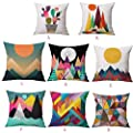 Modern Art Pillowcases,Kingko® Abstract Style Square Flax Pillow Case Home Decorative Sofa Car Throw Cushion Cover - low-cost UK light store.