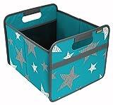 Faltbox Classic Medium, Azur Blau/Sterne (Vintage)