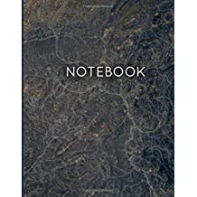 Notebook: Black Marble With Elegant Gold Veins Journal - Large Composition Book (8.5'' x 11'') - College Ruled Notebook with 120 Pages