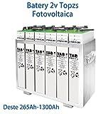 Akku Photovoltaik Solar 6Gerät Tab 4topzs 353–458AH 2V Leben mehr als 15Jahren