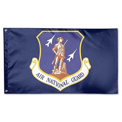 VR4U Air National Guard Garten Flagge Fahne Deko & für Hochzeit Home Outdoor Garten-& Jahrestag Home im Garten Decor 3'x 5' One Size Weiß National Guard Hat